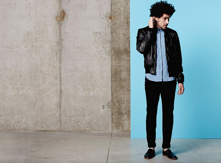 """""""Game of Thrones newcomer Joel Fry has curated a cool selection of clothes on Farfetch which debuts on April 2, and they're completely ideal for updating mens' spring wardrobes. I'm in love with the dapper loafers by Opening Ceremony that Joel is rocking here.""""  —Rosemary"""