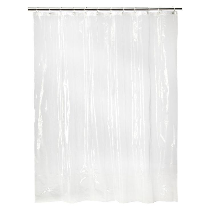 6 Gauge Medium Weight Shower Liner Clear - Threshold