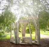 Under the Canopy is a low-impact and sustainable pavilion designed and built for the National Trust's Dunham Massey Gardens.