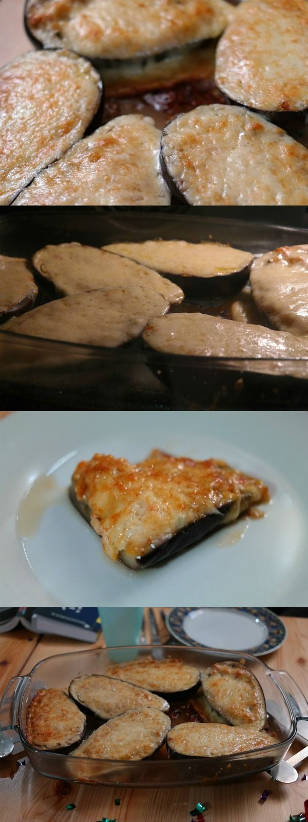 Berenjenas con queso fundido - 19 recetas de berenjenas rellenas
