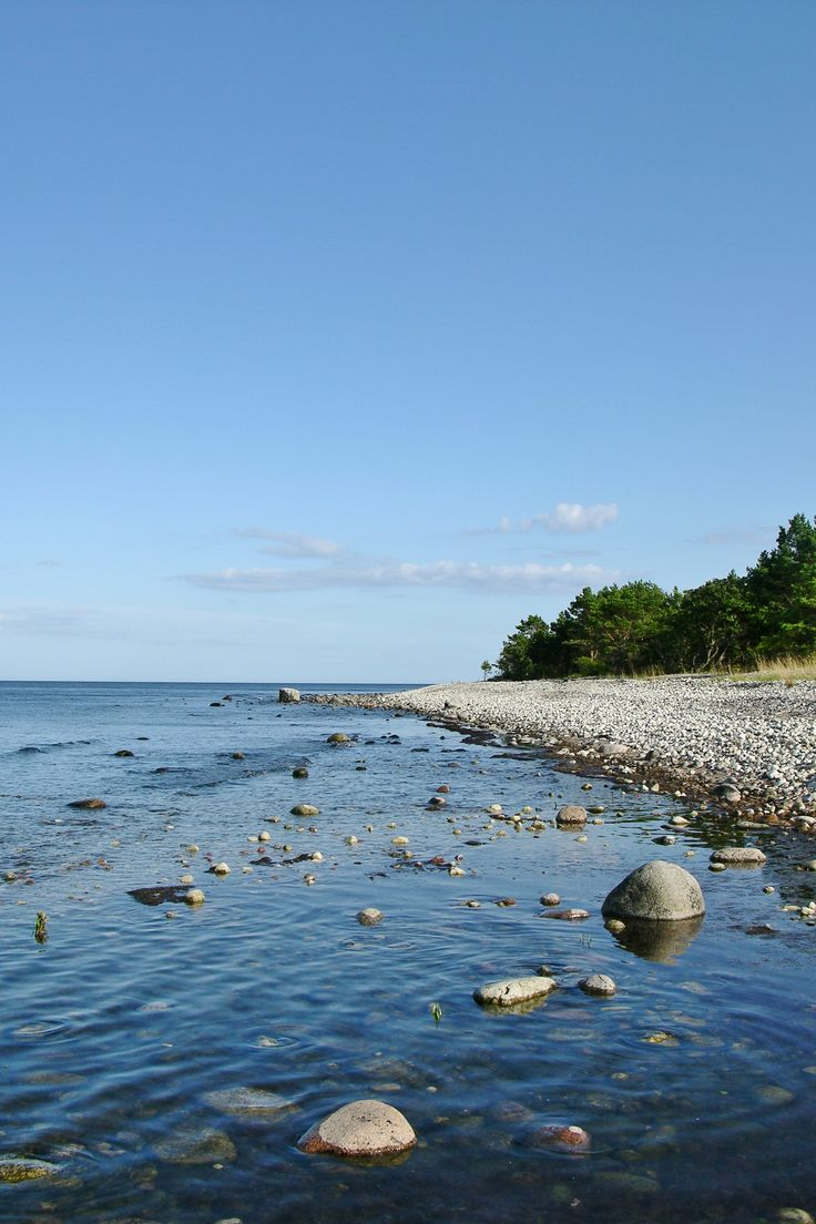 The rough coast on Öland, Sweden