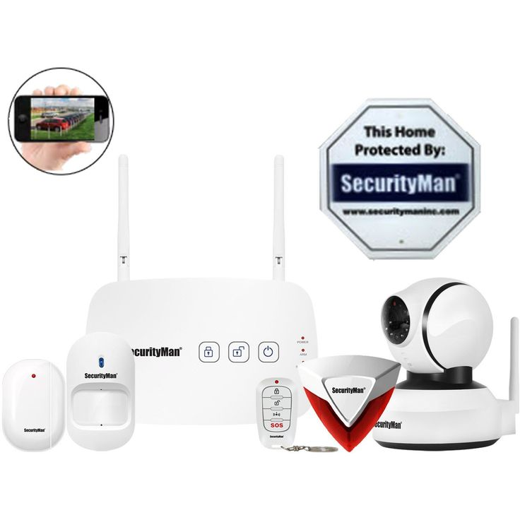 SecurityMan IWATCHALARMD1 Mobile App Based Wireless Home Security Alarm System with Pan-Tilt Camera