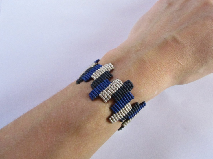 Macrame Color Block Bracelet