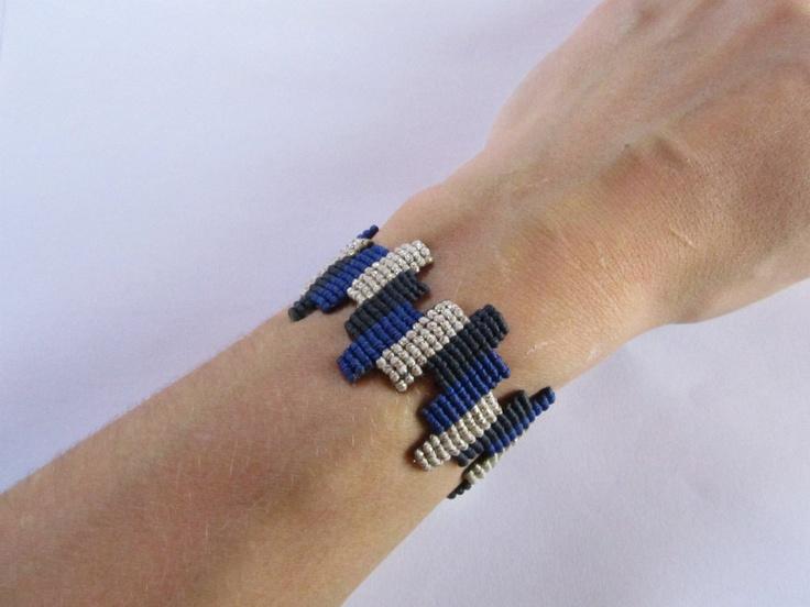 Macrame Color Block Bracelet