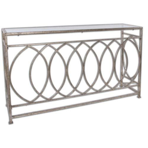 Uttermost Aniya Antique Silver Console Table On SALE