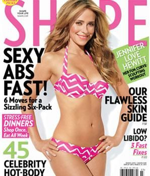 SHAPE Magazine cover model Jennifer Love Hewitt on working out, body confidence, and being happy