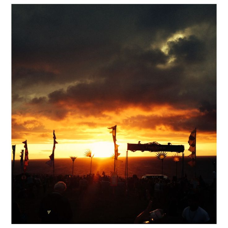 Sunset @ Boardmasters Festival in Cornwall