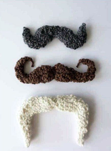 Get your 'stache on. Learn how to make a crocheted mustache, with this free pattern by Jessica Polka.