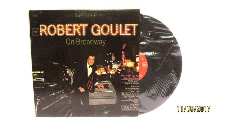 1965 Robert Goulet On Broadway Vinyl LP 33 Columbia CL 2418 Easy Listening #EasyListening