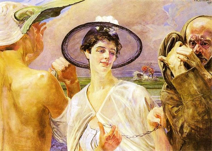 """Orpheus and Eurydice"" by Jacek Malczewski - theme from Book X of Ovid's Metamorphoses."
