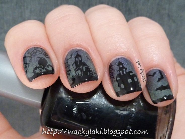 387 best holiday themed nails images on pinterest holiday wacky laki nail aween challenge day 10 halloween manicure prinsesfo Image collections