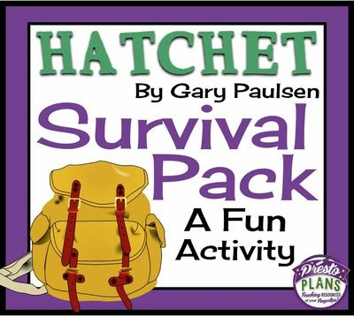 HATCHET: Whats In The Survival Pack? - Fun Class Activity from Presto Plans on TeachersNotebook.com -  (3 pages)  - Use this fun class activity to allow your students to predict what Brian should find in the survival pack (Hatchet)