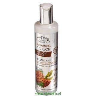 """Sekrety Arktyki - szampon do włosów """"Aktywny wzrost i wzmocnienie"""", olejek z cedru syberyjskiego, arginina, 280ml"""