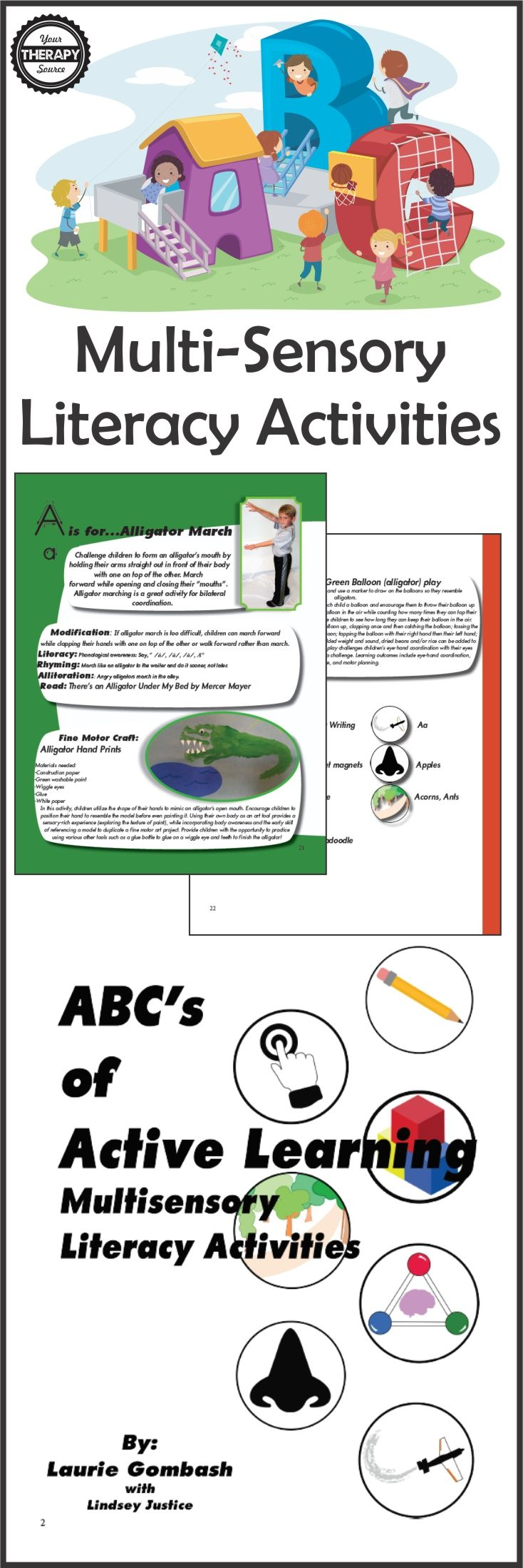 Multisensory Active Learning - Here is a great FREE printable to get kids learning the letter A through a multi-sensory, embodied cognition approach.