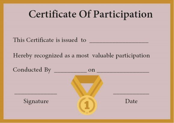 10 best certificate of participation in workshop template