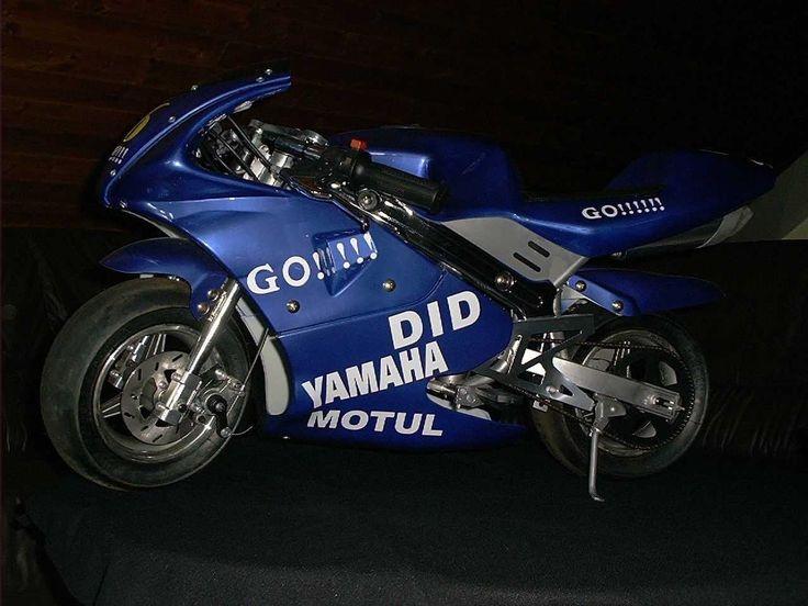 Motorrad Mini Pocket Racer Nr.46 Valentino Rossi Ausstellungsstück sehr selten