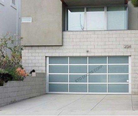 Glass Garage Door : Full View Aluminum U0026 White Laminated