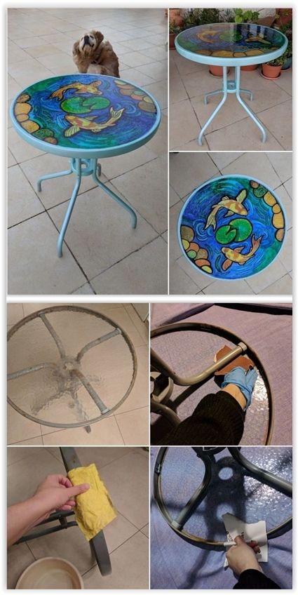 How to repaint a rusty metal table