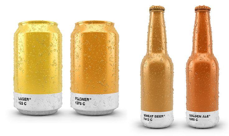 Embalagem de cerveja inspirada na escala Pantone
