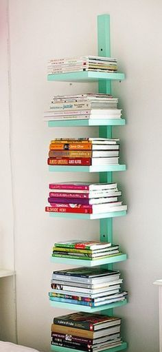 VEleven DIY Ideas to Organize Your Home this Year - running out of room for books. need figure something out