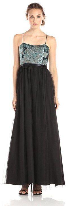 Aidan Mattox High Waist Sweetheart A-Line Dress 151A10280