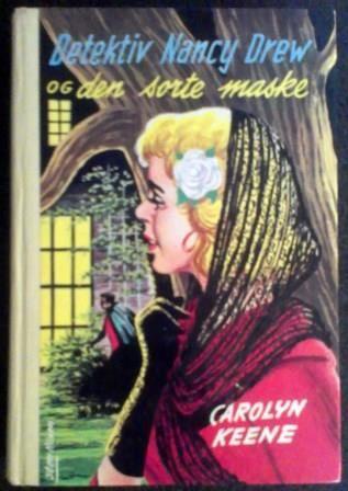 Carolyn Keene: Detektiv Nancy Drew og den sorte maske - brukt bok. Nr.30 i serien om Detektiv Nancy Drew.  Utgitt av Forlagshuset AS 1960
