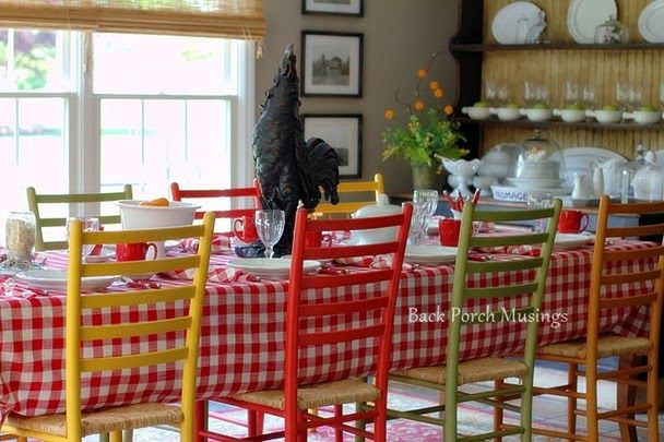 Colorful Farmhouse country kitchen ♥