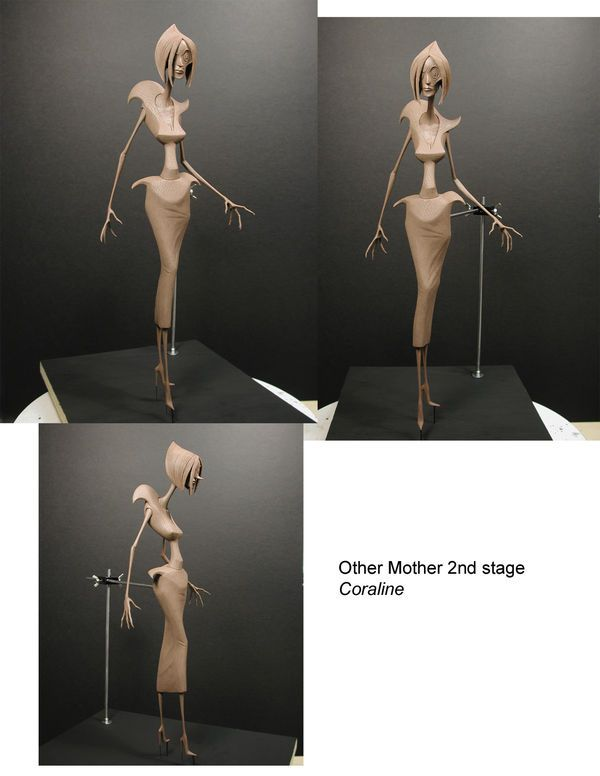 full body maquette of Other Mother, Stage 2 from Coraline