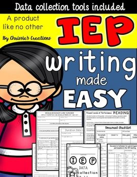 Special Education, IEP writing tools and forms for Special Education.  Writing an IEP can be overwhelming for any special education teacher.  I have created some tools to assist in gathering data as well as organizing that data into an IEP document.  Included: IEP Data Collection Folder cover (Color and BW)Document checklist with datesDocument checklist basic formNote to Parent/GuardianParent Guardian InvitationDocuments of attempts Parent/GuardianIEP meeting reminder (1/2 page form)IEP…