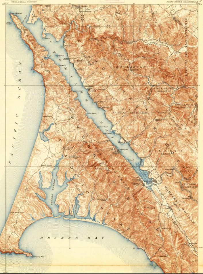 """USGS on Twitter: """"The northwest-southeast trend of the San Andreas Fault is unmistakable on this Point Reyes map."""""""