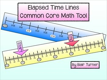 Hands-on help to teach elapsed time! Elapsed Time Lines - Common Core Math Tool $