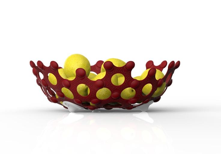 Korol Fruit Bowl 330. Made from recycled polypropylene.
