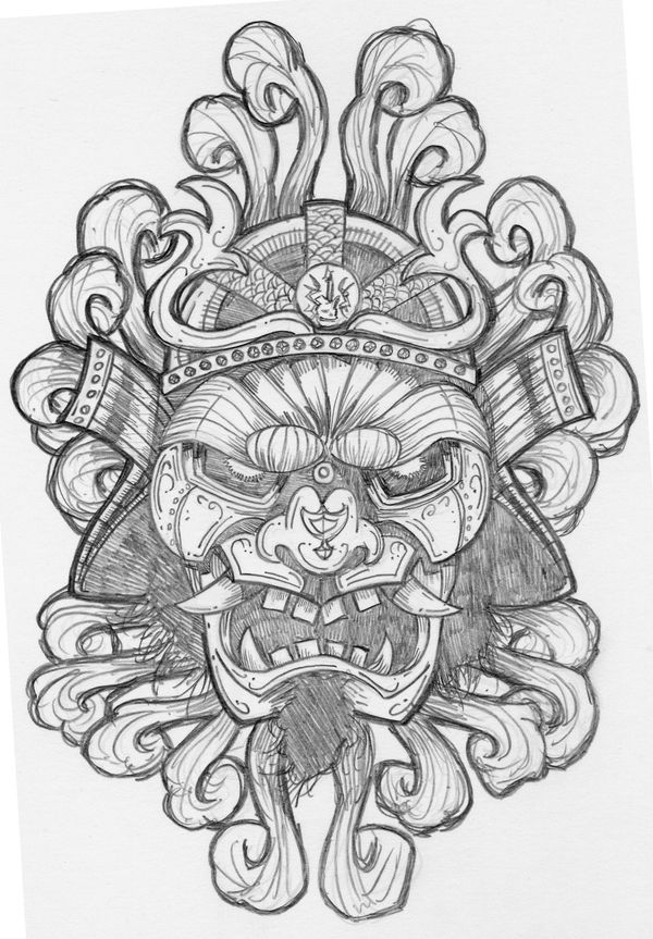 Samurai Rockaganda Art Print by Chris Honeywell, via Behance