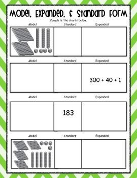 expanded form posters worksheets common core aligned worksheets expanded form and poster. Black Bedroom Furniture Sets. Home Design Ideas