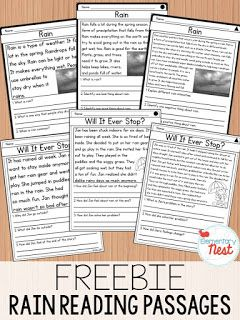 FREE Reading Passages for spring- This is a sample set from my differentiated reading passages for spring. There is a fiction and nonfiction story, with three different levels.