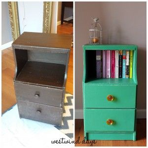 Vintage Telephone Side Table Gets A Makeover Using Folk Art Home Decor  Chalk Paint   By