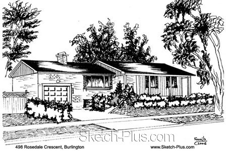 Sketch of House: 498 Rosedale Crescent, Burlington