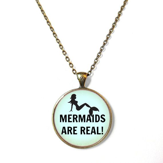 Pastel Goth MERMAIDS ARE REAL Funny Necklace - Funny Pop Culture Jewelry - Motivational and inspirational Pendant on Etsy, $16.43 AUD