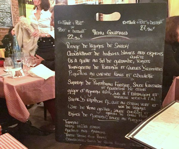 Paris Marais food bistrot