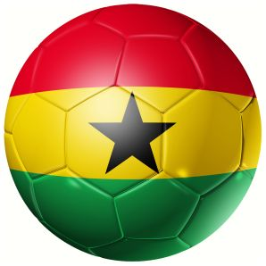 Ghana Football Flag