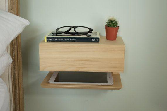 Floating bedside table