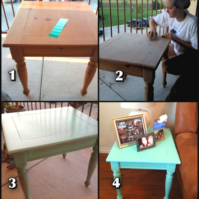Refurbished End Table: 1) Pick Out An Old Table (I Found Mine At