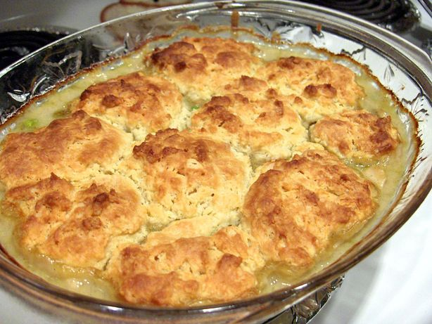 Chicken Pot Pie with Buttermilk Biscuit Crust from Food.com: Ma Knows ...