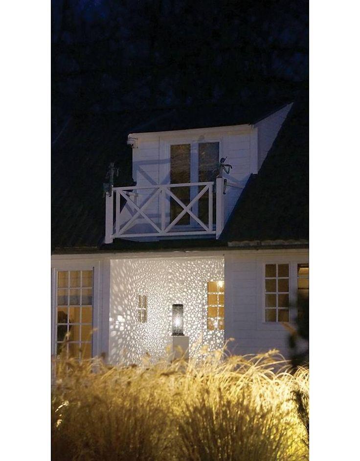 Projector sterrenhemel voor buiten geborsteld nikkel of brons 15,5, 20,5 of 25,5 cm diameter