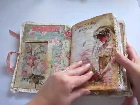 Vintage wedding journal - YouTube