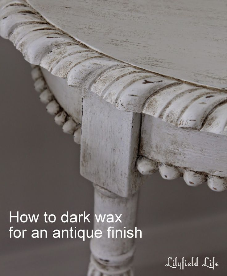 How to Antique Painted Furniture using Dark Wax; Lilyfield Life