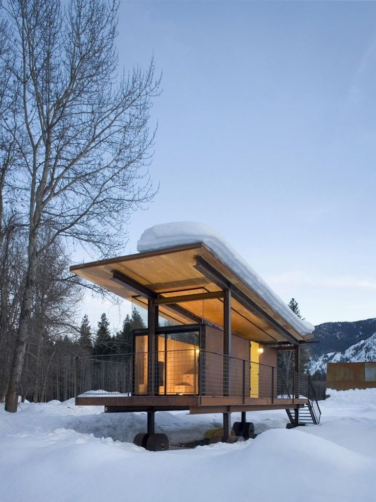 The Rolling Huts by Seattle-based Tom Kundig of Olson Kundig Architects via onreact