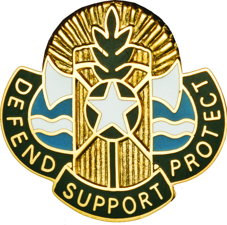 786th Quartermaster Bn Unit Crest (Defend Support Protect)
