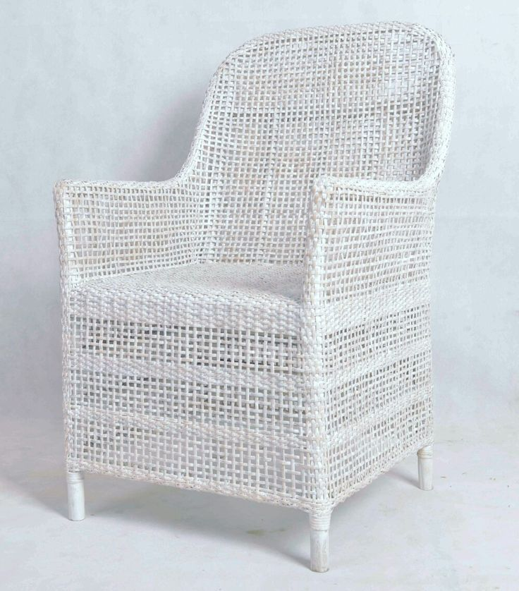 Hand Woven Rattan Chair suits for Dinning in white wash finishes