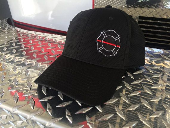 f98c75a18a7 Thin Red Line Firefighter Flex Fit Hat Fire Department
